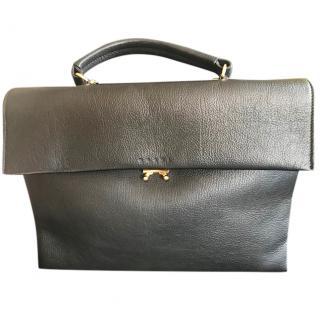 Marni Black Calf Leather Top Handle Bag
