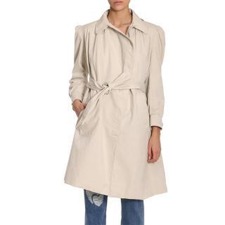 Balenciaga Puff-sleeve Asymmetric Coat