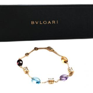 Bvlgari B.zero1 soft 18 kt yellow gold gemstone bracelet