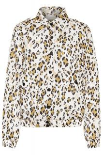 Gestuz New Leopa Animal Print Bomber Jacket