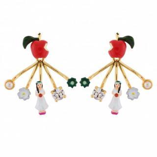 Les Nereides French Glazed Snow White earrings