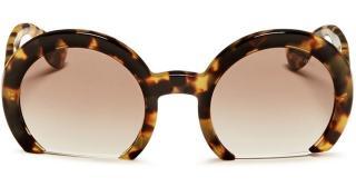 Miu Miu Rasoir Leopard Print Sunglasses