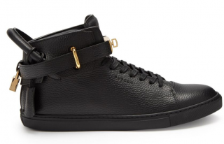Buscemi Core Clip leather high top trainers