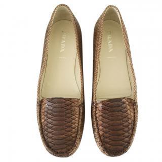 Prada Snakeskin Loafers