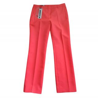 Jil Sander Red Coral Trousers