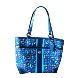 Coach Logo Printed Tote Bag