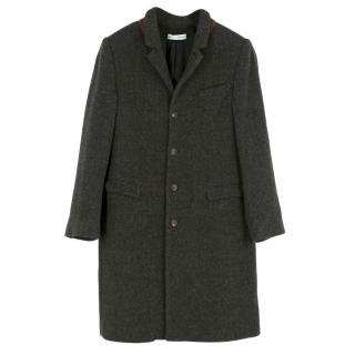 Dolce & Gabbana Girls Grey Wool-blend Coat
