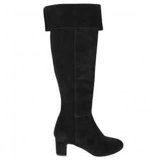Rupert Sanderson Brockwell Black Suede Knee Boots