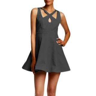 Halston Heritage cutout cocktail dress