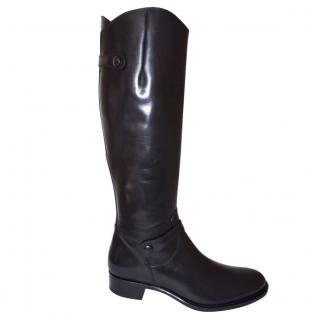 Rupert Sanderson Audley Black Calf Leather Knee High Boots