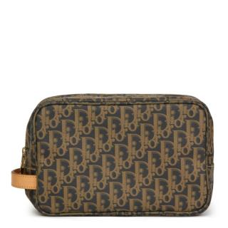 Christian Dior Coated Canvas Monogram Pouch