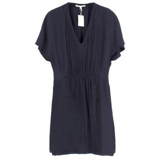 Maje V-neck Pleated Mini Dress