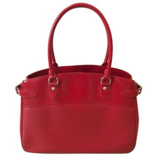 Louis Vuitton Red Epi Leather Tote