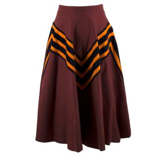 Bottega Veneta Current Season Barolo Wool Skirt