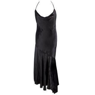 Milly Black Panne Velvet Lienne Dress