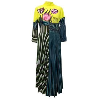 Mary Katrantzou Pleated Printed Silk Dress
