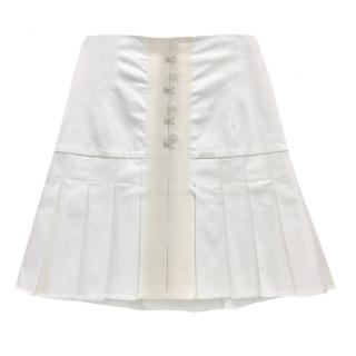 Alessandro De Benedetti Cream Pleated Skirt