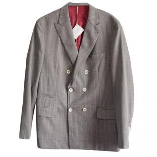 Brunello Cucinelli Men's Double Breasted Wool Jacket