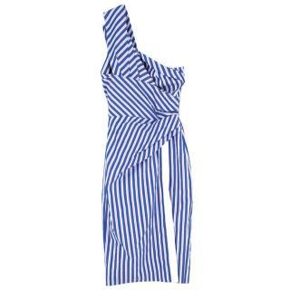 Petersyn Alistar One-shoulder Knightsbridge Stripe Dress