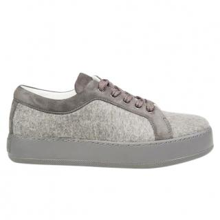 Max Mara Lace-up Cashmere Sneakers