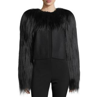 Bottega Veneta Runway Goat Hair-Trim Wool Jacket