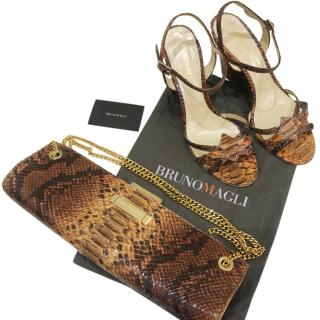 Bruno Magli Python Sandals & Shoulder Bag