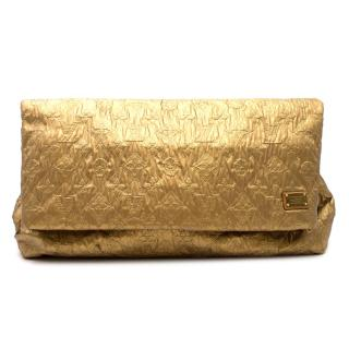 Louis Vuitton Limited Edition Metallic Limelight Clutch