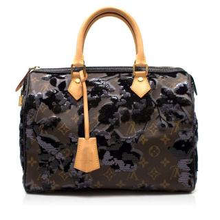 Louis Vuitton Limited Edition Monogram Fleur De Jais Bag