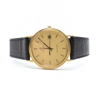 Omega Vintage 1989 Gold-plated Seamaster Watch