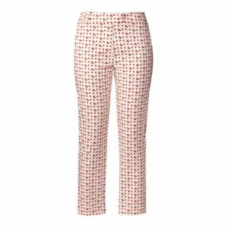ORLA KIELY Poppy/Busy Bee Cropped Cotton Trousers