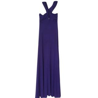 BCBGMaxazria Purple Crossover Gown
