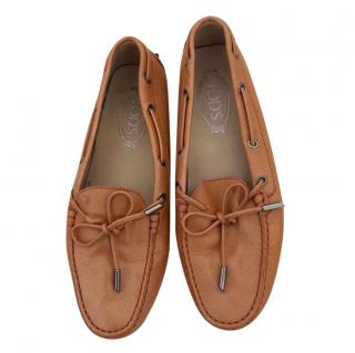 Tod's Orange Classic Loafers