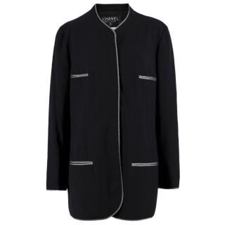Chanel Boutique Collarless Wool Blazer