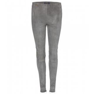 Ralph Lauren suede skinny trousers