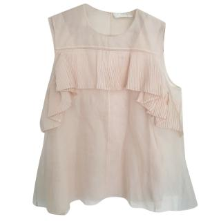 Chloe silk sheer sleeveless top