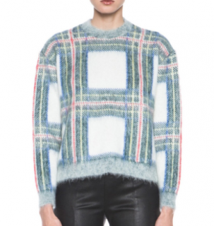 Stella McCartney Cropped Plaid Knit Sweater