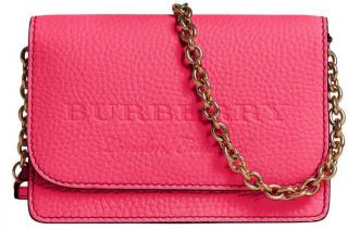 Burberry Embossed Logo Chain Flap Bag
