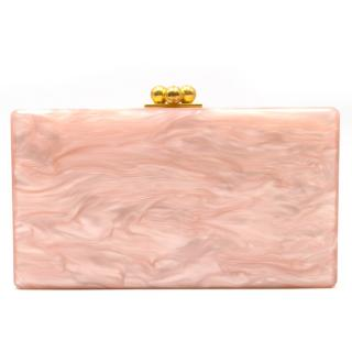 Edie Parker Current Season Rose Jean Solid Acrylic Clutch Bag