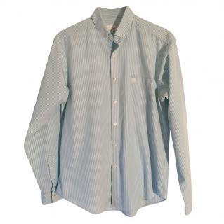 Hardy Amies Men's blue & white striped shirt