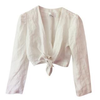Lisa Marie Fernandez White wrap linen Top
