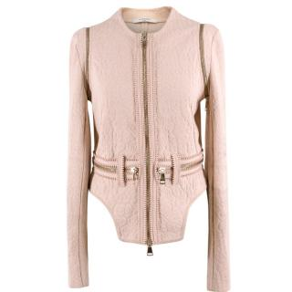 Givenchy Textured Leopard Print Pink Jacket