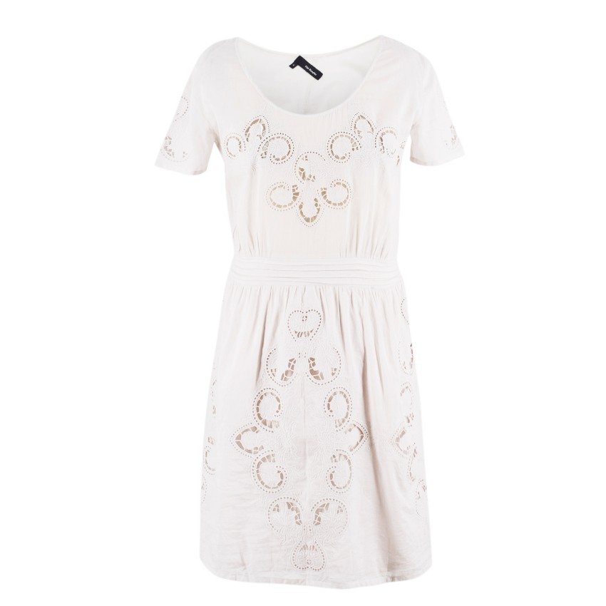 The Kooples Beige Cotton Paisley Dress
