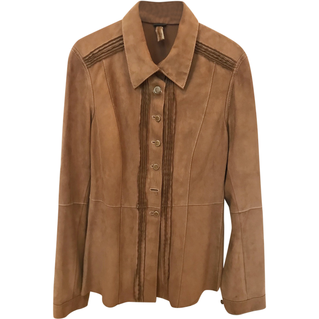 Mabrun brown suede shirt