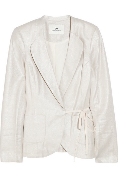 Day Birger et Mikkelsen Metallic linen and cotton-blend jacket