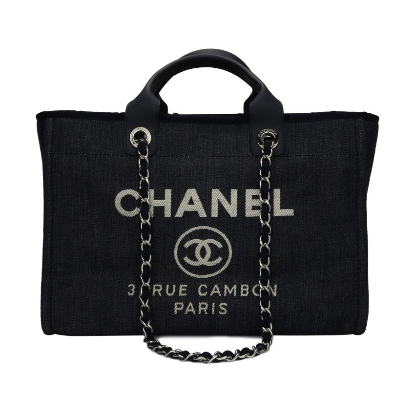399b8ddcb6f9 Chanel Large Blue Denim Deauville Tote153463
