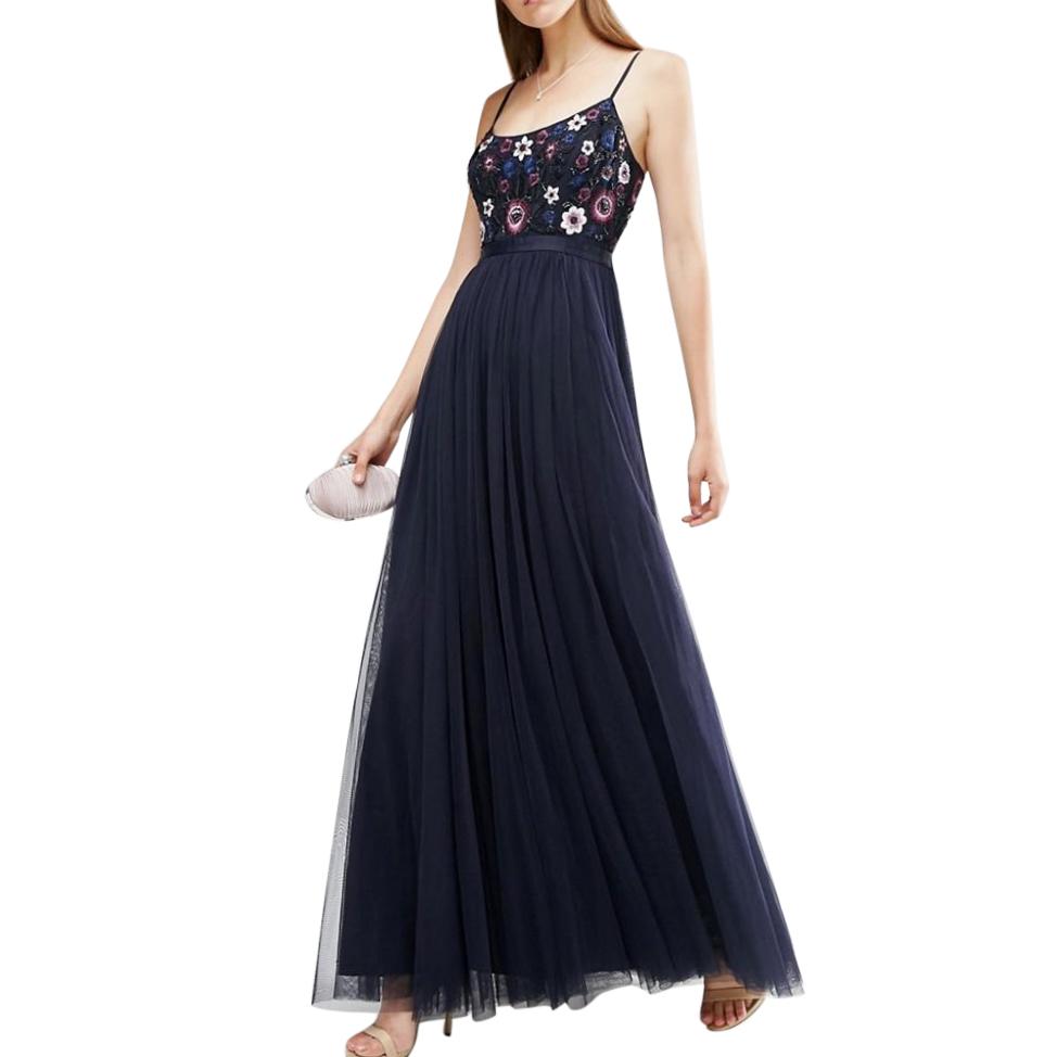 Needle & Thread Embellished Folk Maxi Dress