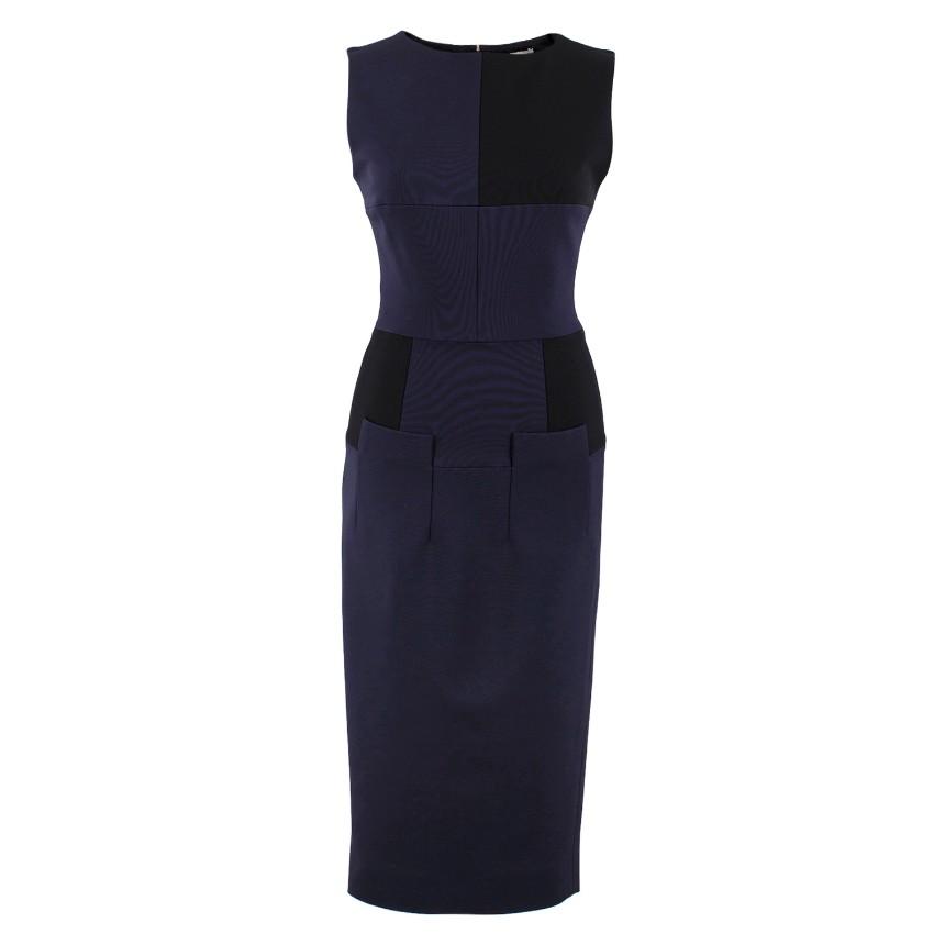 Victoria Beckham Fitted Sleeveless Midi Dress