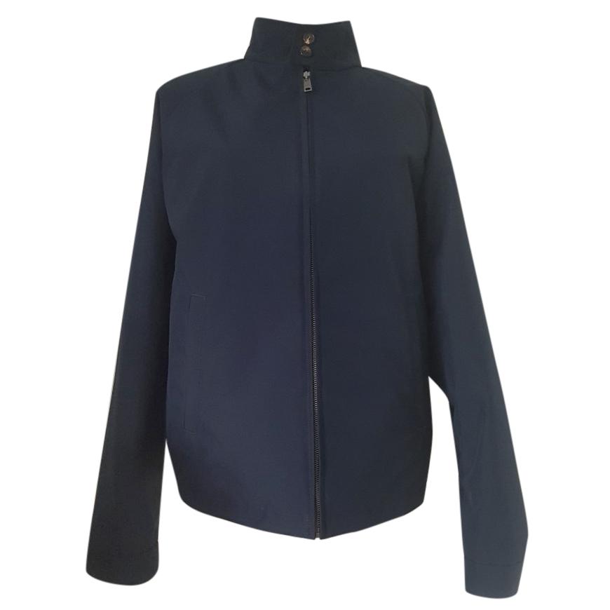 Prada Men's Navy High Neck Jacket