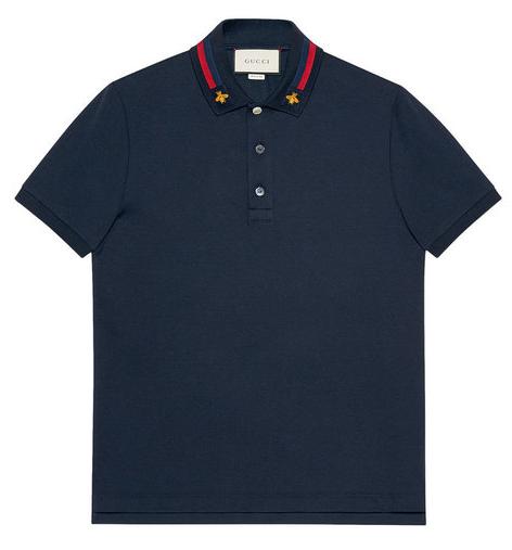 Gucci Men's Web & Bee Polo T-shirt