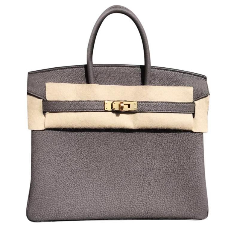 cb75f0101f27 Hermes Etain 25cm Birkin Bag
